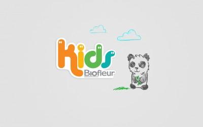 logo e mascote Kids Biofleur